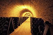 Champagne Domaine Gosset cave pupitre