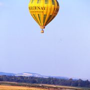 Champagne vol en montgolfière